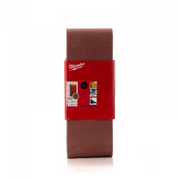 K240 Schleifband 100 x 620 mm für Bandschleifer BS 100 LE, 5 Stück