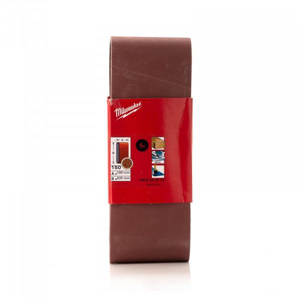 K150 Schleifband 100 x 620 mm für Bandschleifer BS 100 LE, 5 Stück