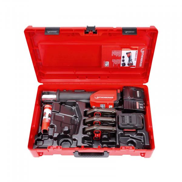 Akku-Pressmaschine ROMAX 4000 Pressbacken-Set SV15-22-28 mm, 1x4 Ah