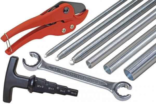 4-teiliges Werkzeug-Komplettset für Alu-Verbundrohr 16 x 2 mm
