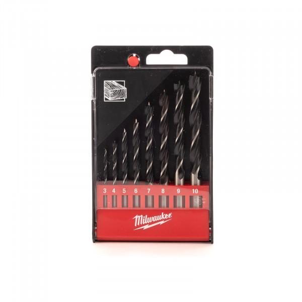Holzspiralbohrer Kasette 8-teilig, 3-10 mm, DIN 7487 E
