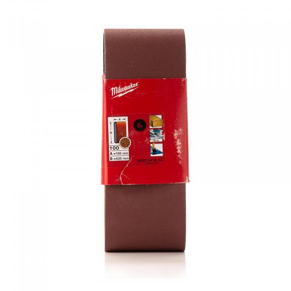 K100 Schleifband 100 x 620 mm für Bandschleifer BS 100 LE, 5 Stück