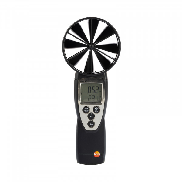 Luftmengenmesser Anemometer Mietgerät testo 417 für Lüftungsanlage mit Trichterset
