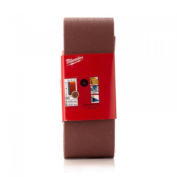 K60 Schleifband 100 x 620 mm für Bandschleifer BS 100 LE, 5 Stück
